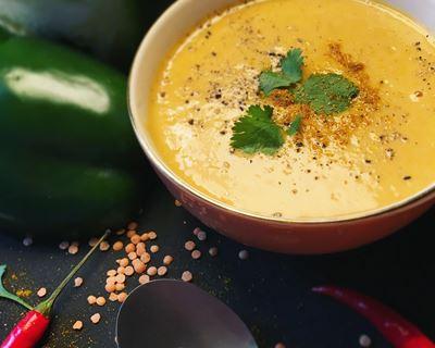 Soupe poivron et curry
